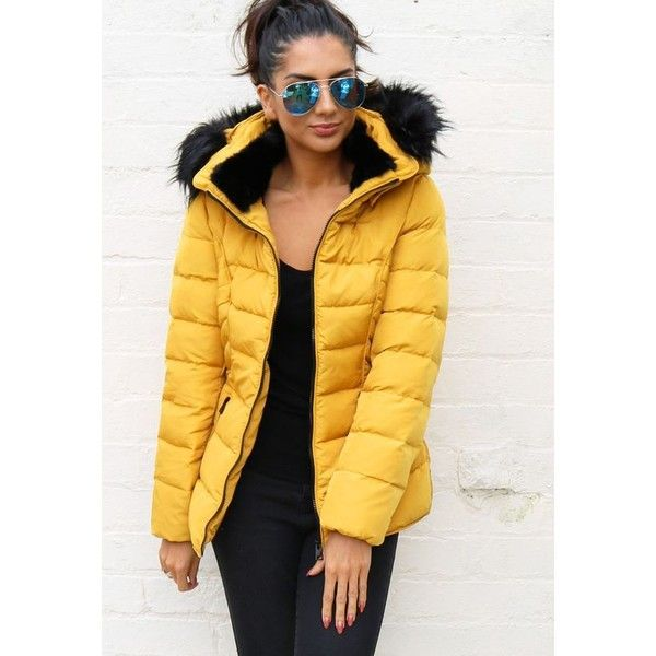 Capsule: Mustard Yellow ❤ liked on Polyvore featuring outerwear .