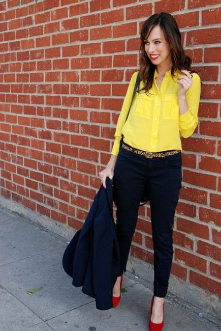 How to wear yellow blouse shoes 23+ Ideas #blouse #howtowear .