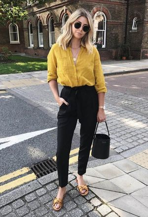 Outfit with casual outfits with yellow shirts | Chicisi