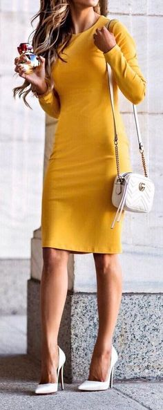 94 Best Yellow dress outfits images | Yellow dress, Outfits, Dress .