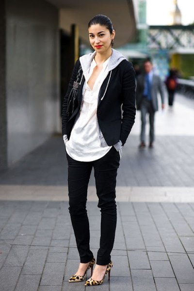 How to Wear Zip Up Hoodie: 13 Casual Outfit Ideas for Women - FMag.c