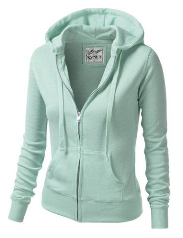 Fashionable Zippered Long Sleeves Hoodie For Women | Hoodies .